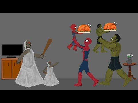 Granny vs Hulk, SpiderMan Funny Animation #9 - Drawing Cartoons 2 1